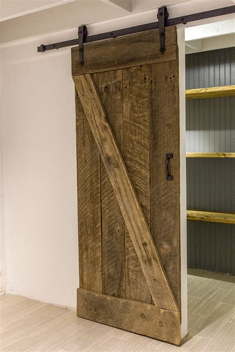 How To Build A Barn Door Remodelaholic 35 Diy Barn Doors Rolling Door Hardware Ideas