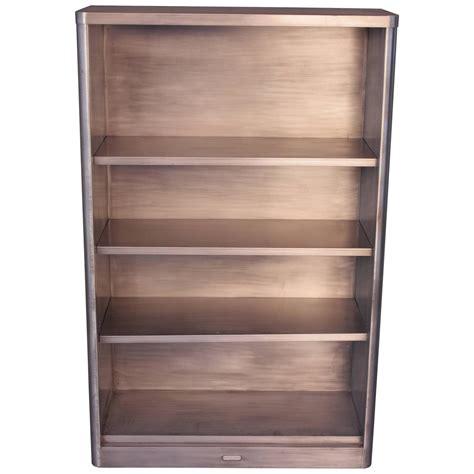 Vintage Metal Bookcase vintage industrial midcentury metal bookcase at 1stdibs