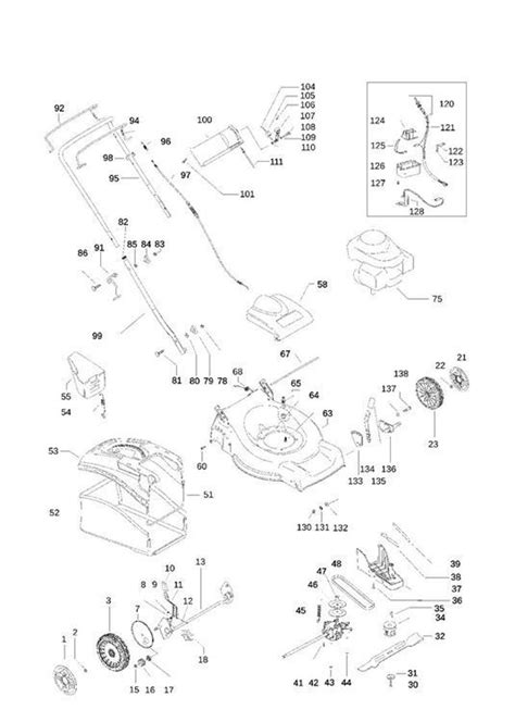 mcculloch parts diagram mcculloch m51 625cmde 965993601 lawnmower product