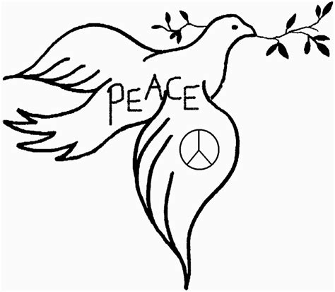 Images Of Doves Of Peace Coloring Home Peace Dove Coloring Page