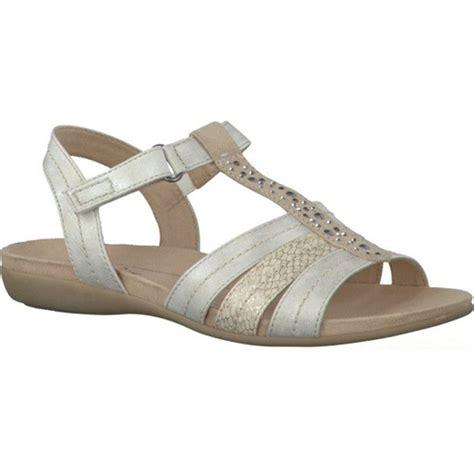 silver t sandals soft line womens white silver t bar sandals 8 8 28165 26 191