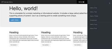 tutorial bootstrap offcanvas 9 off canvas navigation tutorials exles web