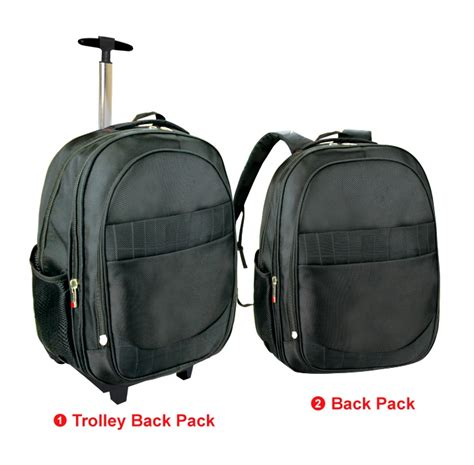 Rt Pouch Travelling 2 in 1 trolley back pack