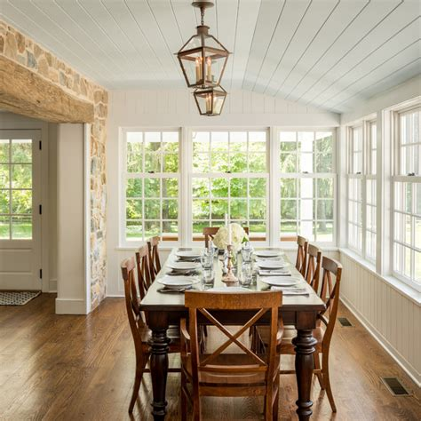 sunroom dining room sympathetic addition kennett square pa farmhouse