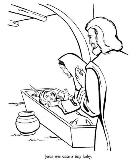 bible coloring pages baby jesus mary and joseph and baby jesus bible christmas story