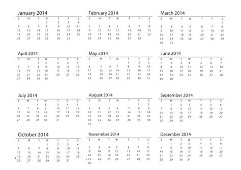 2014 printable calendar a4 size promotional products blank