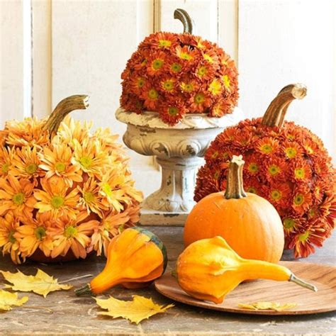47 Awesome Pumpkin Centerpieces For Fall And Halloween Pumpkin With Flowers Centerpieces
