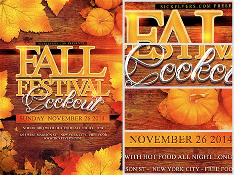 templates for fall flyers fall festival flyer template flyerheroes