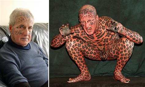 most tattooed man leopard of tom leppard who was world s most