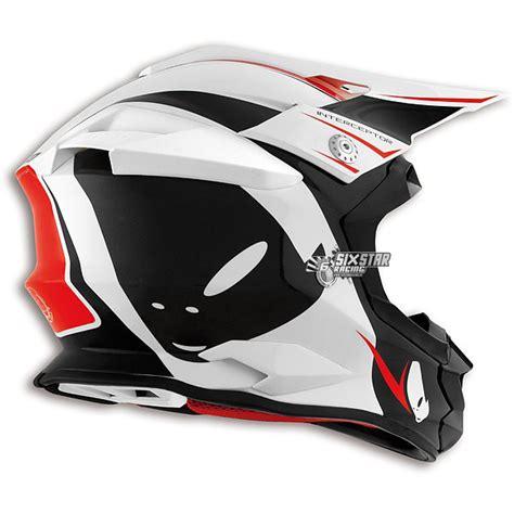 ufo motocross helmet casque ufo interceptor arcade blanc noir sm