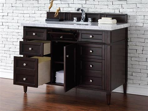 contemporary 48 inch single bathroom vanity mahogany