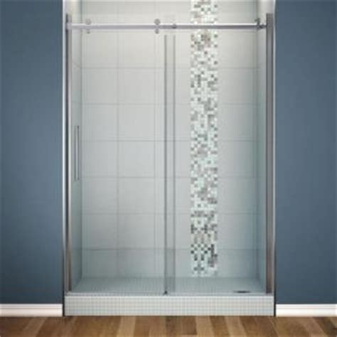 Max Shower Doors Maax Halo 60 In X 78 3 4 In Frameless Sliding Shower Door Clear Glass In Chrome 138997 900 084