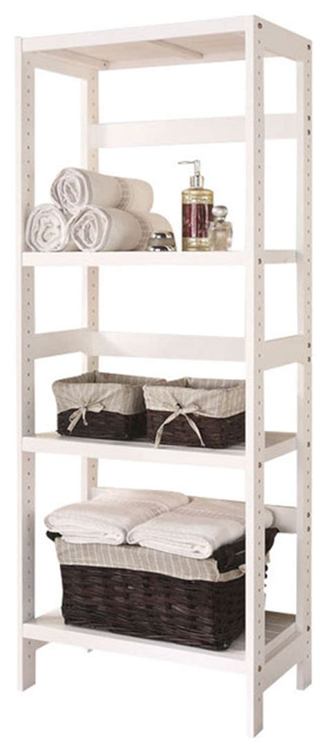 Bathroom Towel Storage Units 3 Shelf Wooden Bathroom Towel Storage Rack Stand Organizer Unit White Contemporary Bathroom