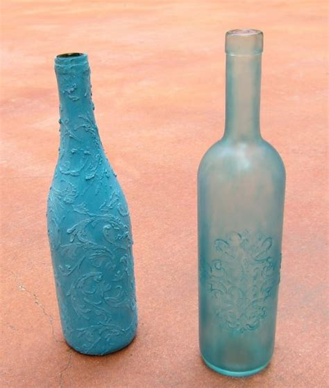 Sea Glass Bottles Ideas Tutorial Faux Sea Glass Bottles 187 Dollar Store Crafts