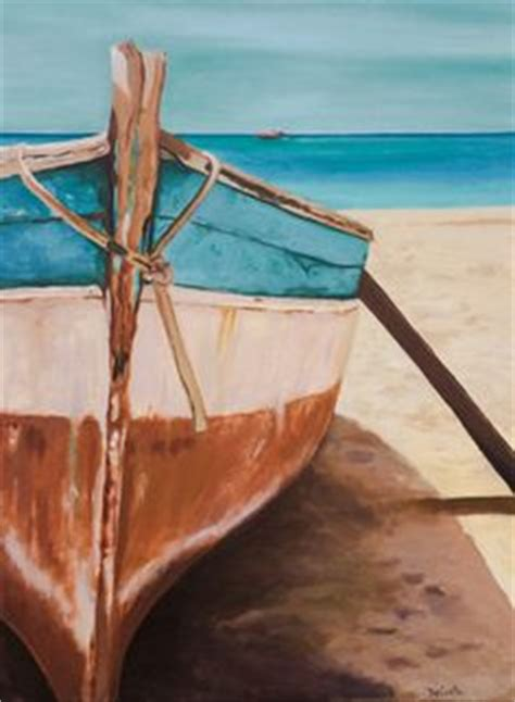 boat on beach drawing painting of a boat on a greek beach by margaret heath