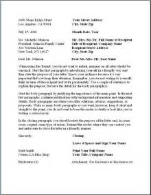 Business Letter Indented Format Business Letter Format Formal Writing Sle Template