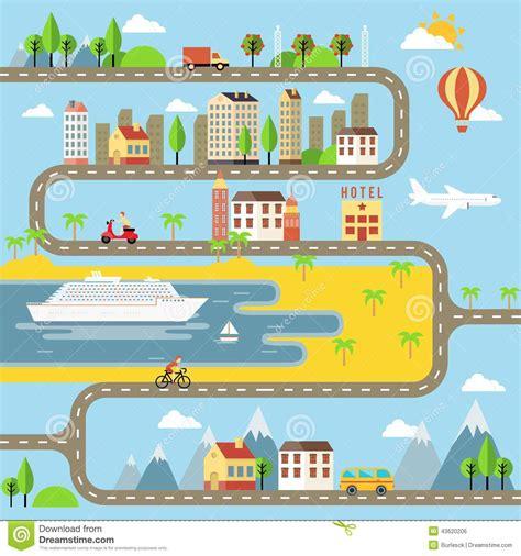 imagenes urbanas vectorizadas ejemplo del paisaje urbano de la peque 241 a ciudad del vector