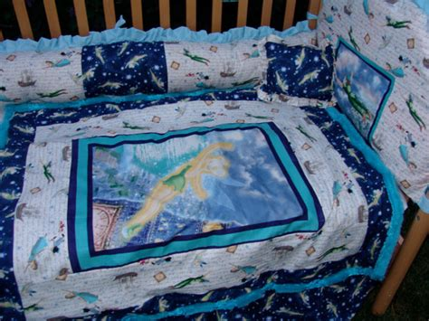 peter pan and tinker ball baby bedding set by bedbugscreations