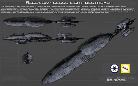 recusant class light destroyer ortho new by