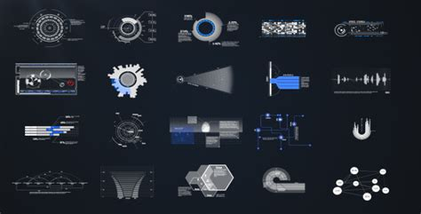Hud Infographic Elements By Jones246 Videohive After Effects Infographic Template