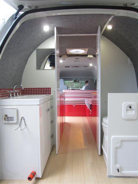 Camper van interior campervan bathroom