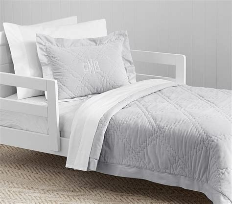 Quilted Toddler Bedding by Washed Velvet Quilted Toddler Bedding Pottery Barn