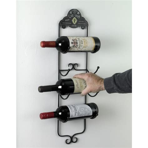 Metal Wine Racks For Wall by Quot Cave A Vins Quot Wall Mounted Wine Rack Wall Mounted Wine