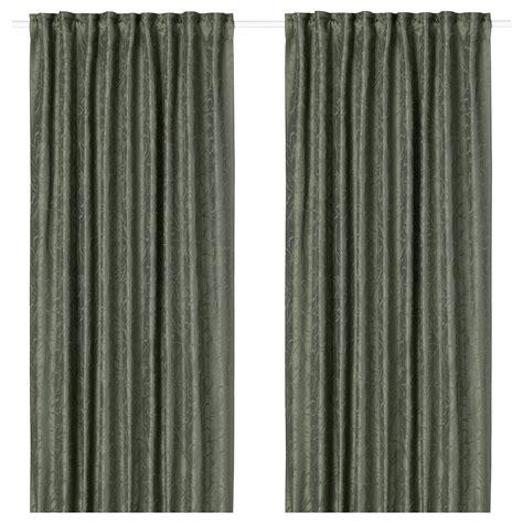 1 paar gordijnen fritse gordijnen 1 paar groen 145 x 300 cm ikea