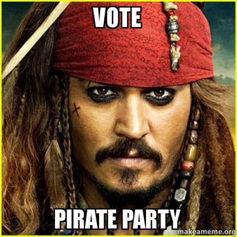 Pirate Meme Generator - vote pirate party make a meme
