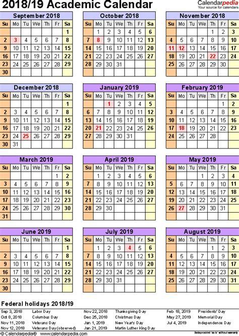 2018 16 academic calendar template academic calendar template frieze exle resume