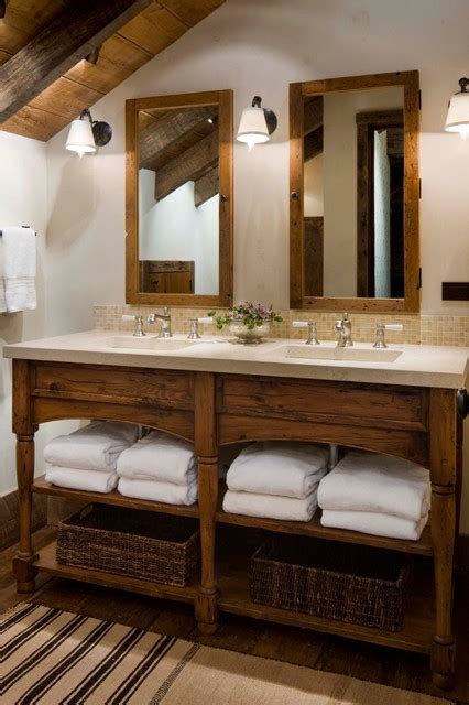 bathroom vanity ideas wood in traditional and modern designs traba homes great point lodge rustic bathroom by on site