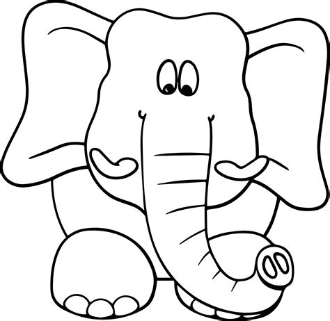 coloring pages big pictures elephant big coloring page wecoloringpage