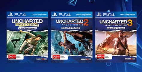 bd ps4 uncharted collection 1 2 3 uncharted 1 2 3 are getting individual physical