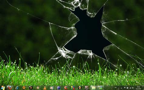 desktop wallpaper virtual girl broken screen wallpaper prank wallpapersafari