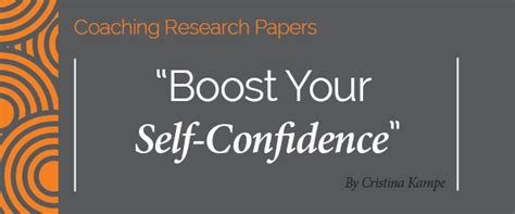 How To Improve Self Confidence Essay by Research Paper Boost Your Self Confidence