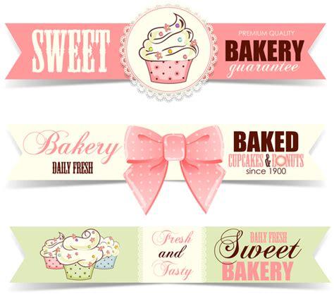 design banner sweet 17 sweet bakery badge vector banners 02 vector banner