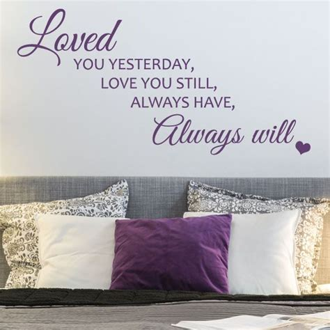 Sticker Wallpaper I Loved You loved you yesterday wall sticker decals
