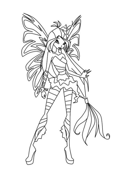 winx harmonix coloring pages    print