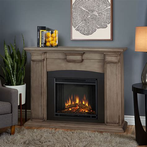 adelaide electric fireplace mantel package in brush