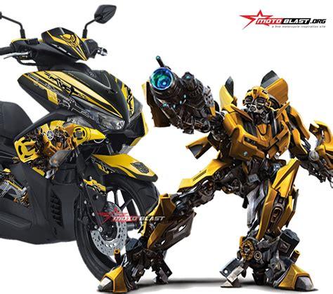 Modifikasi Aerox 155 Kuning by Modifikasi Striping Yamaha Aerox Yellow Transformer