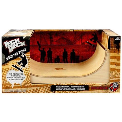 tech deck wooden wood finger skate board skate park ramp