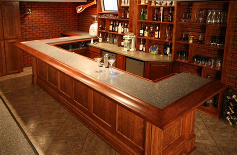 oak bar top oak creek lower level bar 171 wooden thumb remodeling