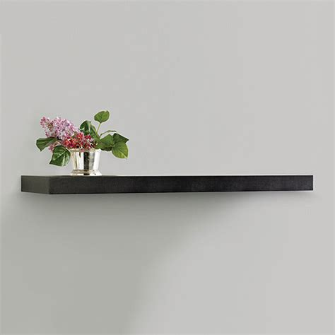 wall shelves walmart inplace shelving floating wood wall shelf black walmart