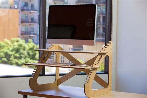 how to standing desk wooden diy standing desk for imac minimalist desk design