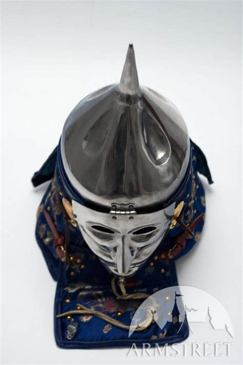 design helmet asia functional medieval asia mongol combat helmet with face