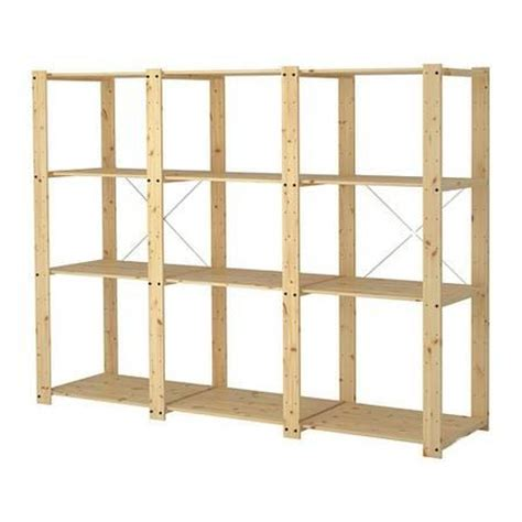Shelving Units For Sale Ikea Gorm Untreated Wood Storage Shelving Unit For Sale