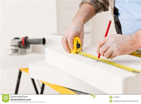 home improvement handyman measure porous brick royalty