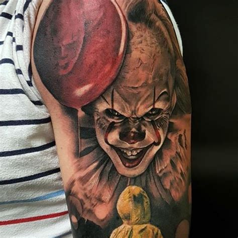 pennywise tattoo 64 best it 2017 tattoos images on