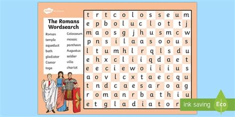 printable word search romans the romans wordsearch romans roman history history games