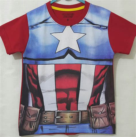 Kaos Cotton Combed Captain America by Kaos Captain America Costum 1 6 Grosir Eceran